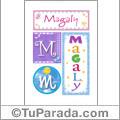 Magaly, nombre, imagen para imprimir