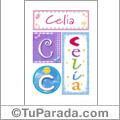 Celia, nombre, imagen para imprimir