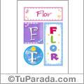 Nombre Flor para imprimir carteles