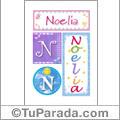 Noelia, nombre, imagen para imprimir