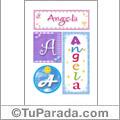 Nombre Angela para imprimir carteles
