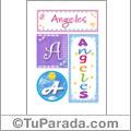 Nombre Angeles para imprimir carteles