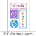 Ornella, nombre, imagen para imprimir