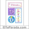 Nombre Dubraska para imprimir carteles
