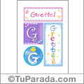 Grettel, nombre, imagen para imprimir