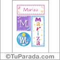 Mariza, nombre, imagen para imprimir