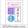 Jomaris, nombre, imagen para imprimir