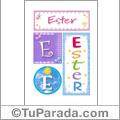 Nombre Ester para imprimir carteles