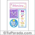 Moraima, nombre, imagen para imprimir