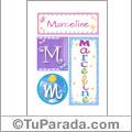 Marceline, nombre, imagen para imprimir