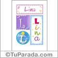 Lina, nombre, imagen para imprimir
