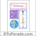 Yailenys, nombre, imagen para imprimir