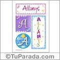 Allanys, nombre, imagen para imprimir