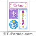 Nombre Briana para imprimir carteles