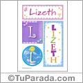 Nombre Lizeth para imprimir carteles