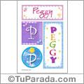 Nombre Peggy para imprimir carteles