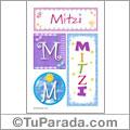 Nombre Mitzi para imprimir carteles