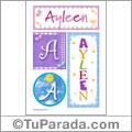 Nombre Ayleen para imprimir carteles