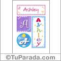 Nombre Ashley  para imprimir carteles