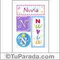 Nombre Nuvia  para imprimir carteles