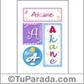 Akane, nombre, imagen para imprimir