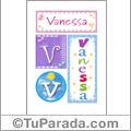 Vanessa, nombre, imagen para imprimir
