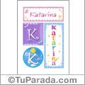 Katarina, nombre, imagen para imprimir