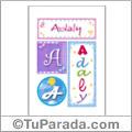 Adaly, nombre, imagen para imprimir
