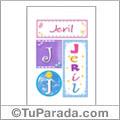 Jeril, nombre, imagen para imprimir