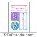 Nombre Stephanie para imprimir carteles