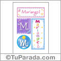 Nombre Mariangel para imprimir carteles