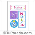 Nombre Naira para imprimir carteles
