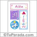 Ailén, nombre, imagen para imprimir