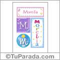 Morelia, nombre, imagen para imprimir
