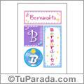 Nombre Bernardita para imprimir carteles