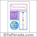 María Fernanda, nombre, imagen para imprimir