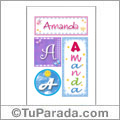 Nombre Amanda para imprimir carteles