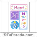 Nombre Naomi para imprimir carteles