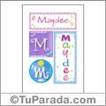Maydee, nombre, imagen para imprimir