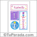 Nombre Isabella para imprimir carteles