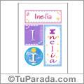 Inelia, nombre, imagen para imprimir