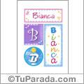 Bianca, nombre, imagen para imprimir