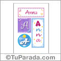Anna, nombre, imagen para imprimir