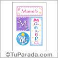 Manuela, nombre, imagen para imprimir