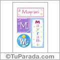 Mayrani, nombre, imagen para imprimir