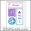 Ammi, nombre, imagen para imprimir