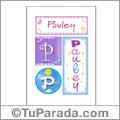 Pauley, nombre, imagen para imprimir