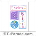 Krista, nombre, imagen para imprimir