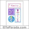 Yaneira, nombre, imagen para imprimir