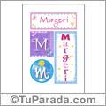 Margeri, nombre, imagen para imprimir